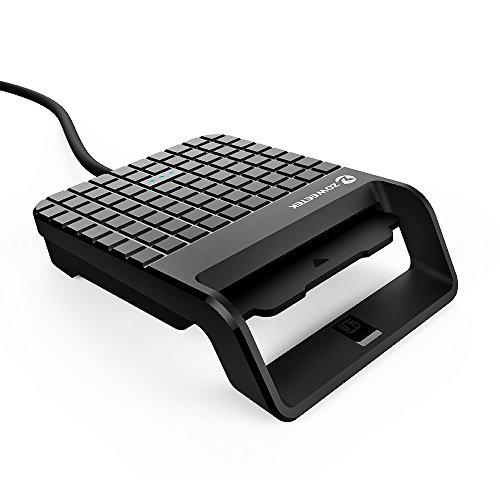 Zoweetek Lector Tarjetas electrónico CAC Inteligente Lector de DNI USB Color Negro