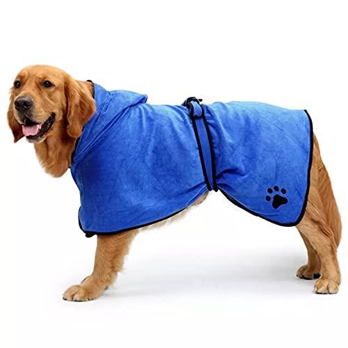 MDKAZ Albornoz para Perros Toalla de baño cómoda para Perros para Perros pequeños medianos y Grandes Toalla súper Absorbente para Mascotas