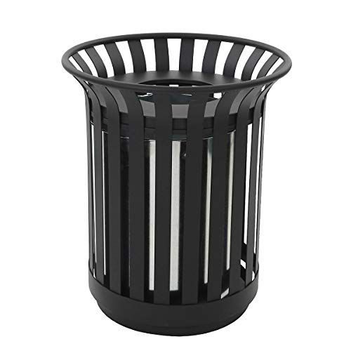 Collecteur de déchets pour l'extérieur, capacité 69 l, noir -