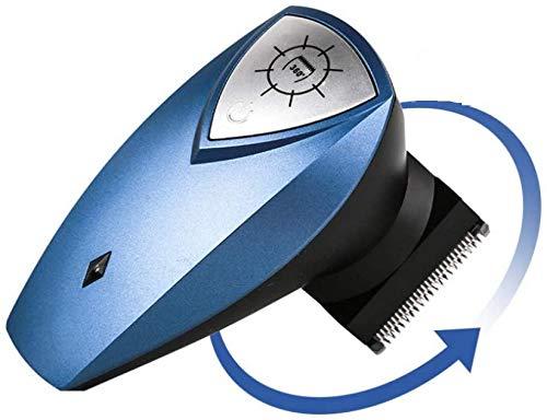 CSHBD Self-Service Rechargeable USB Hommes Adultes Tondeuse à Cheveux Cheveux électriques Tondeuse 360 Rotation Tondeuse à Cheveux, Bleu