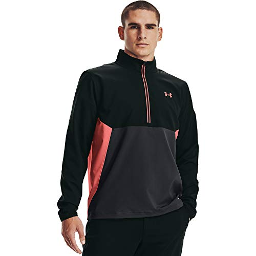 Under Armour Men's Storm Windstrike Half-Zip Jacket , Jet Gray (010)/Venom Red , 3X-Large