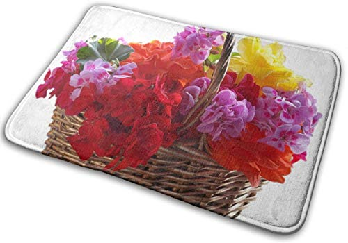 Keyboard cover Alfombrilla de baño con forma de cesta de flores, antideslizante, suave, absorbente, de goma, para suelos de cocina, 40 x 60 cm