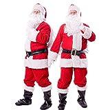 【 本格すぎる… 】monoii サンタ コスプレ コスチューム サンタクロース 衣装 サンタコス メンズ クリスマス こすぷれ 仮装 大きいサイズ 10点 セット 554