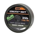 FOX Edge Matt Coretex 20m Vorfachschnur, Tragkraft:35lbs/15.9kg, Farbe:Grün