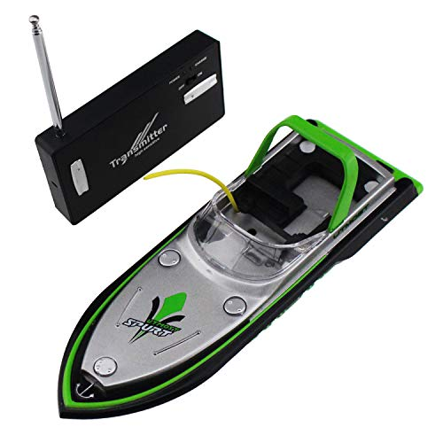 Tipmant Mini RC Boat Radio Remote Control Ship Speed Boat Waterproof Electric Water Toy for Kids Gift (Green)