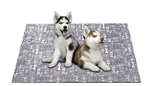 Wasserdichte Hundedecke, flüssigkeitsresistent, Decke für Bett, Couch, Sofa, maschinenwaschbar, Hundedecken mit Fleece, Grau
