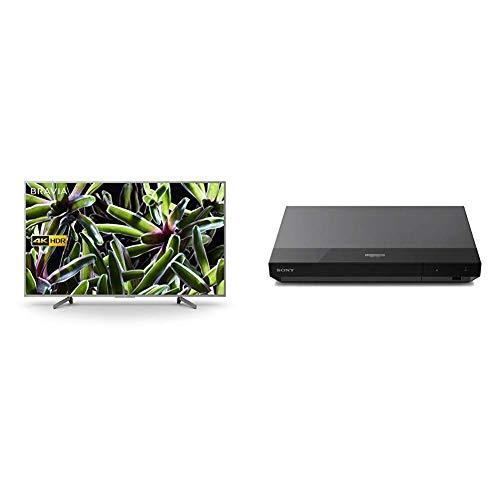 Sony BRAVIA KD65XG70 65-inch LED 4K HDR Ultra HD Smart TV - Silver + Sony UBP-X500 4K Ultra HD Blu-Ray Disc Player, Black