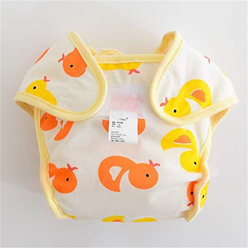 FairOnly Baby Anti Sliding Printing Baby Windel Wiederverwendbare Baumwollwindel Duckling M (5-8kg)