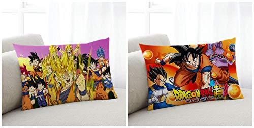 IGZNBA Confezione da 2 Fodere per Dragon Ball Cuscini Decorative Federe Copricuscini Stampati Arredi per Casa Divano Camera da Letto-B_30*50cm