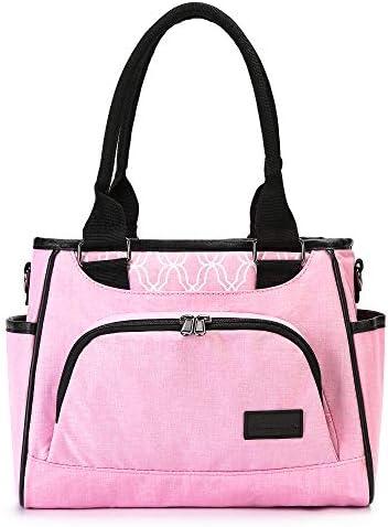 AmHoo Reusable Lunch Bag For Women Waterproof Cooler Insulated Box Picnic Women Top Handle Satchel product image