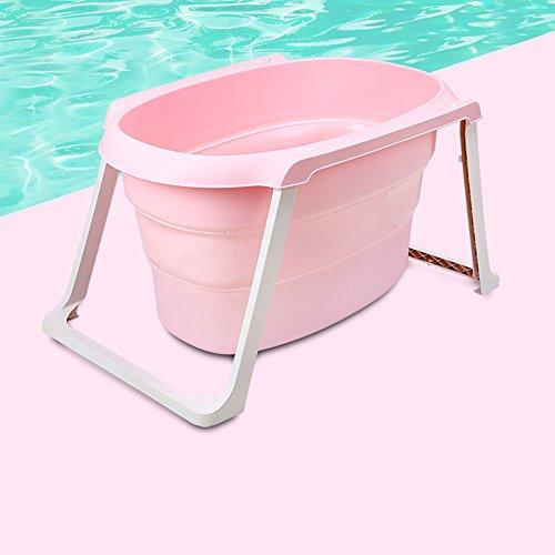 Folding Tub Le Nouveau-né de Bain de bébé Peut Se Plier Multifonctionnel Pliant la Baignoire de bébé de Baril de Bain des Enfants (Couleur : Pink)
