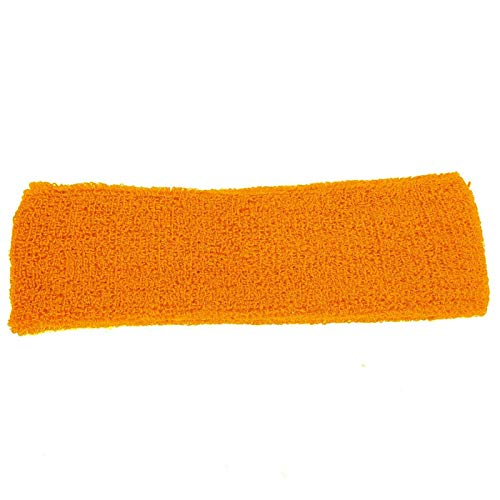 DAUERHAFT Material elástico de Calidad de Diadema Deportiva, para Hacer Deporte en Gimnasio(Orange)