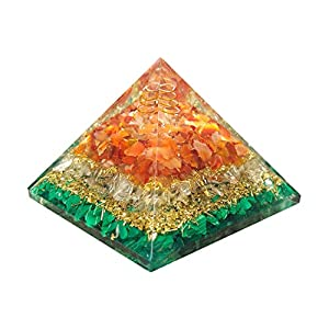 Transformation Orgonite Pyramid | Malachite, Clear Quartz, Red Carnelian