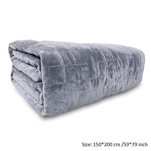 Gewichtete Decke,Schwere Decke Für Erwachsene Geweichtsdecke,Doppelseitige Weiche Quadratische Bettwäsche,Große Schlaf Für Menschen