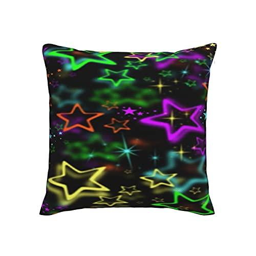 Stars - Fundas de almohada suaves, sedosas para sofá, decoración del hogar, 45,7 x 45,7 cm
