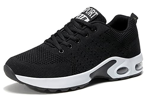 [ADKASS] スニーカー メンズ レディース スポーツシューズ 黒 ランニングシューズ 厚底 ウォーキング 運動靴 ジョギング 靴 トレーニング カップル靴 男女兼用 軽量 通気性 防滑 メッシュ 韓国 人気 日常着用 エアー クッション