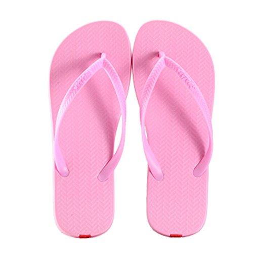 Casual Tongs Unisexe Plage Chaussons Anti-Slip Maison Slipper Sandals Rose