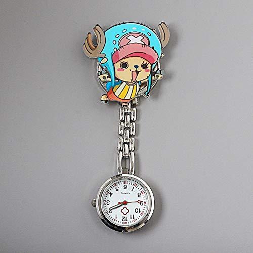 dihui Reloj Médico Reloj,Reloj de Enfermera Simple y Luminoso, Reloj de Bolsillo médico Lindo Reloj de Pecho Impermeable-Camel,médico Reloj de Bolsillo
