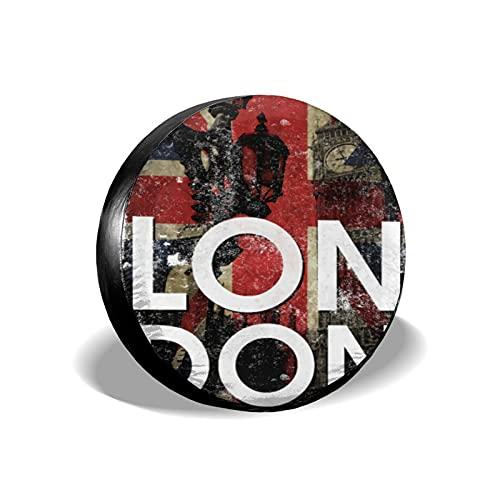 mengmeng Londres bandera Reino Unido cubiertas de repuesto universal para neumáticos de repuesto para remolques RV SUV y varios vehículos accesorios 17 pulgadas