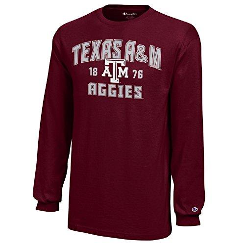 Champion NCAA Jungen Langarmshirt Texas A&M Aggies XL