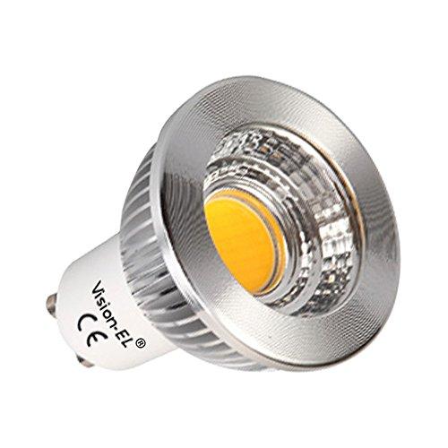 Vision-EL 778427 Ampoule LED GU10 Spot 5W Dimmable 4000°K Aluminium 80 PC, 5 W