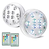 BIGMONAT Pool Lights with RF Remote Controlled Through Water Walls 80FT,AA Battery Operated