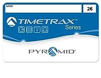 Pyramid 41303 従業員用スワイプカード 番号26-50 TimeTrax TTEZ/TTEZEK/PSDLAUBKK/TTPRO/TTMOBILE/FASTTIME 8000/FASTIME 9000用タイムレコーダーシステム TTEZタイムレコーダーシステム用に購入の場合、従業員25名用アップグレードソフトウェアパッケージが必要です。 25個パック。