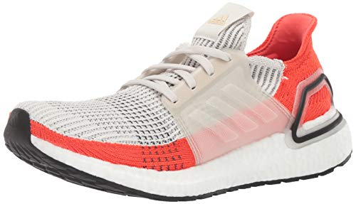 adidas Men's Ultraboost 19 Running Shoe, raw White/Active Orange, 12 M US