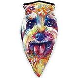 Yorkipoo Dog Cute Art Painting Reusable Bandana Face Dust Mask For Women Men Headband Head Wrap Clothes Dress Cap