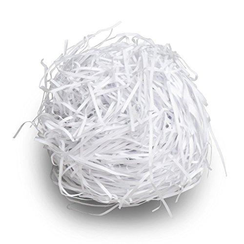 緩衝材 カットペーパー 紙パッキン 白 500g × 1袋 (梱包材 梱包資材 ペーパークッション クッションペーパー ペーパーパッキン ラッピング材料 おしゃれ かわいい)