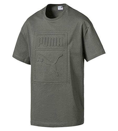 Puma T-shirt T-shirt Archive Embossed Print Tee,Grigio (Castor Gray 39), M