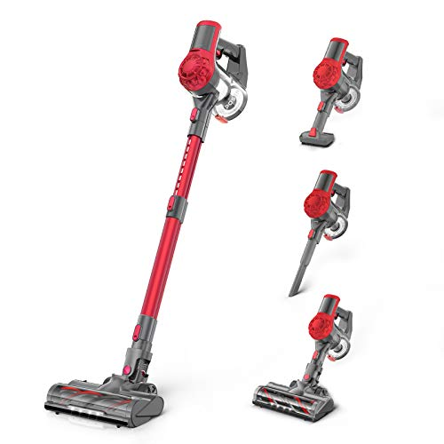 Cordless Vacuum Cleaner 21Kpa Strong Suction, Stick Vacuum with 2.5H...