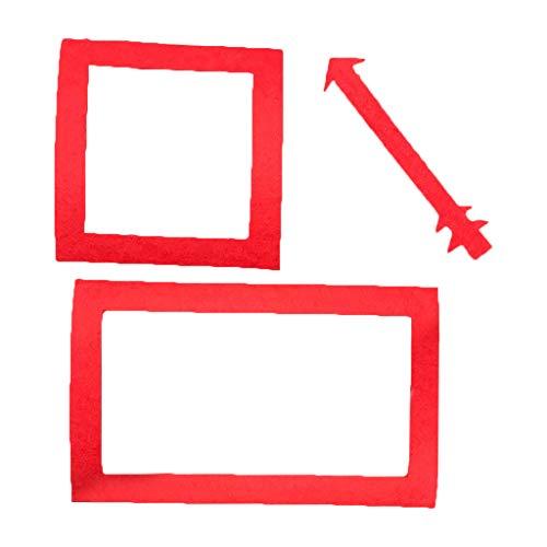 chenpaif 1 Juego de Manta de hito de Crecimiento de beb recin Nacido Accesorios de fotografa de Disfraz Accesorios de Marco de Foto Rojo con Flechas-3