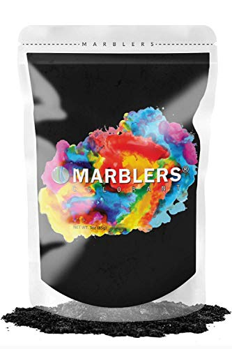 MARBLERS Mica Powder Colorant 3oz (85g) [True Black] | Pearlescent Pigment | Tint | Pure Mica Powder for Resin | Dye | Non-Toxic | Great for Epoxy, Soap, Nail Polish, Cosmetics and Bath Bombs…