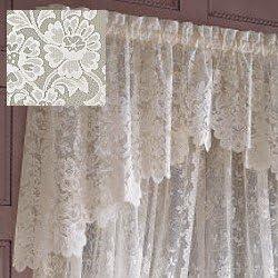 Amazon Com Jcpenney Shari Lace Shaped Valance Cream Furniture Decor
