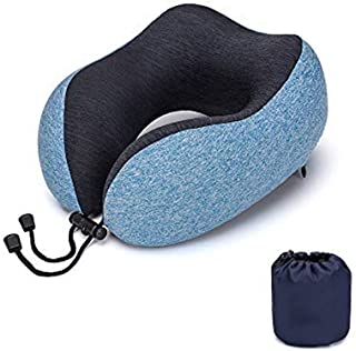 Machine Washable with Travel Bag ELANGSATravel Pillow 100/% Pure Memory Foam Neck Pillow Comfortable /& Breathable Cover