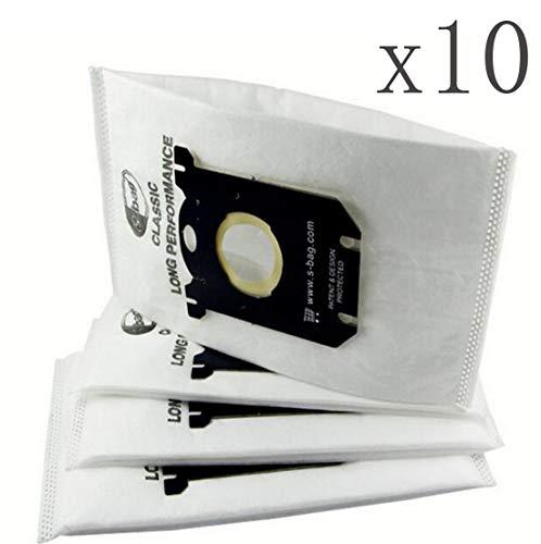 Simuke (10 Pack Vervangende Stofzakken voor Electrolux Stofzuigers Anti-Allergie S- Zak EL200F, EL202F, EL4100,EL4200 EL6985 EL7000 EL8500 Philips Tornado Volta AEG zakken