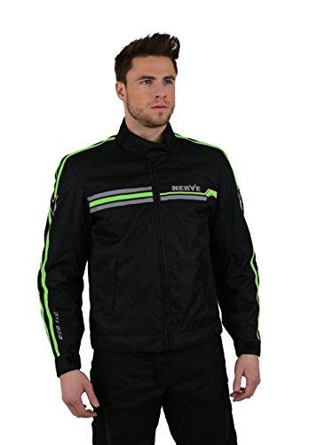 Nerve Swift Blouson Moto, Noir/Vert Fluo, L
