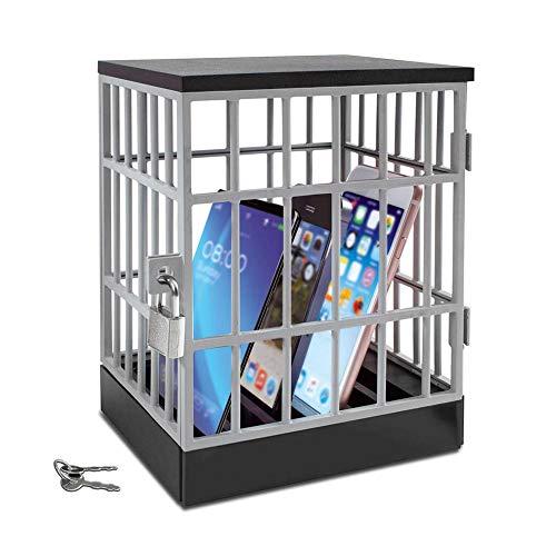 starte Cárcel De Teléfono Celular, Prisión De Teléfono Móvil con Cerradura Soportes De Teléfono Celular para El Hogar, Aula Almacenamiento De Teléfono Celular Jaula De Cárcel De Teléfono Dark Hero