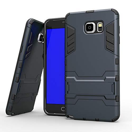 COOVY® Cover für Samsung Galaxy Note 5 SM-N920 / SM-920F Bumper Case, Doppelschicht aus Plastik + TPU-Silikon, extra stark, Anti-Shock, Standfunktion | Farbe Navyblau