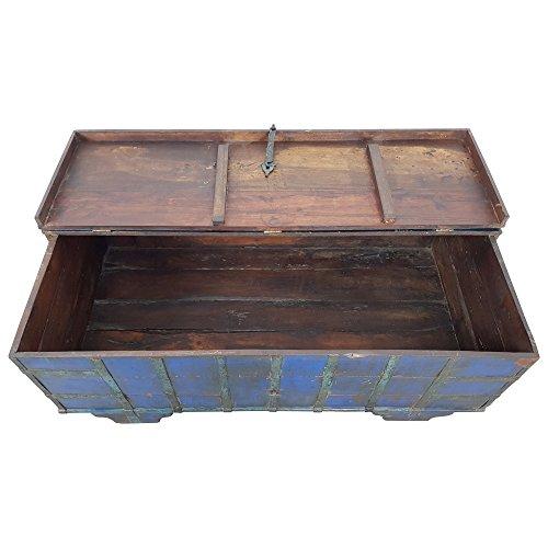 Indoortrend.com Truhen-Tisch Couchtisch Holz-Kiste Wohnzimmertisch Aufbewahrung Vintage Massiv - 5