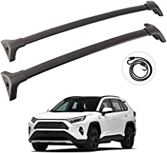 TUNTROL Aluminum Roof Rack Cross Bars Compatible with Toyota RAV4 2019 2020 2021 LE XLE XSE Limited Hybrid, Rooftop Cargo Luggage Carrier