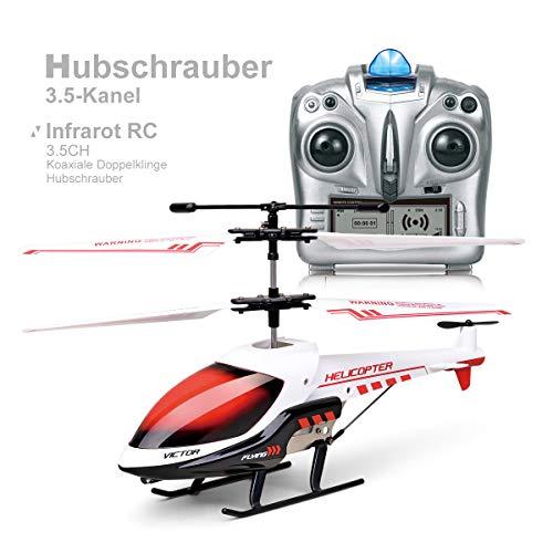 MKZDGM Helicóptero RC Juguete de Control Remoto Mini Helicóptero de Canal 3,5CH Giroscopio y Luces LED Incorporados Helicóptero para Niños y Adultos Juguetes para Niños y Niñas