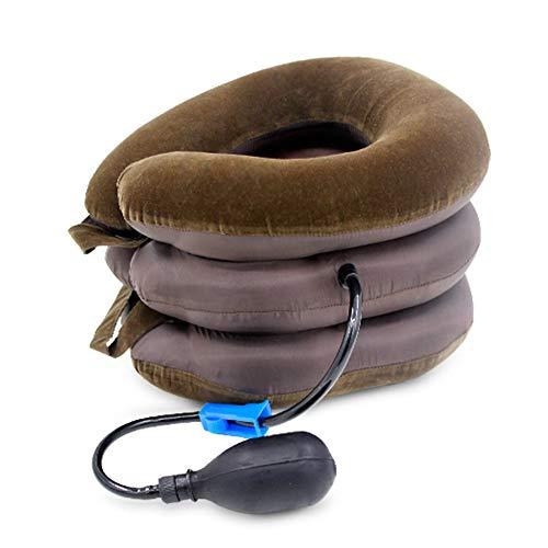 Nieuwe cervicale tractor opblaasbare cervicale zachte capsule verlicht hoofdpijn rug schouder pijn massage ontspanning gezondheid koffie kleur