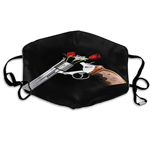 Mundschutz Mundschutz - Waffen und Rosen Krieg und Frieden Ohrschlaufen Wiederverwendbarer waschbarer Gesichtsschutz Magic Scarf