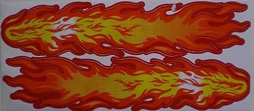 53 x 17 cm pour voiture moto scooter ou un v/élo Feu de flammes GRANDS Tuning Racing Decal Sticker Fiche Dimensions