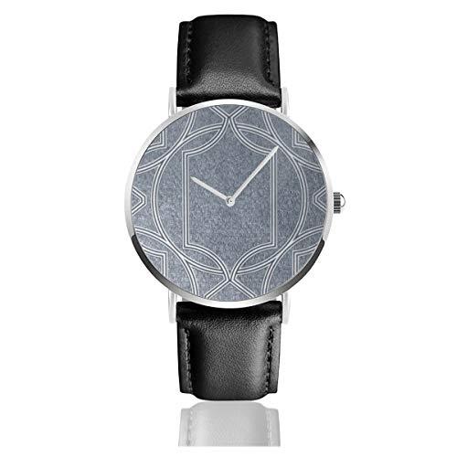 Graham & Brown Deco Geo Midnight Classic Casual Fashion Quarzuhr Edelstahl Lederband Uhren
