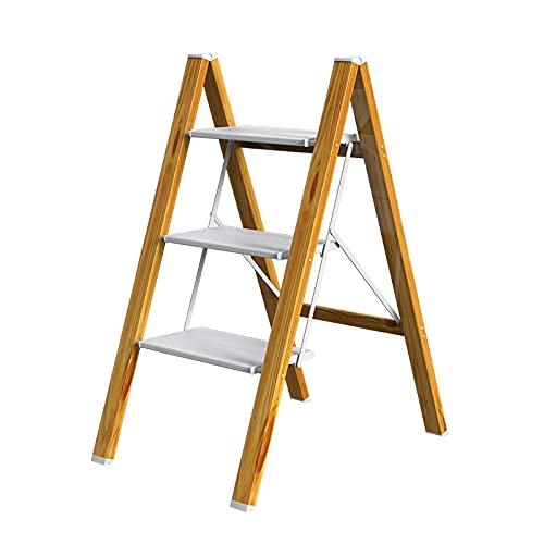 mlloaayo 折りたたみステップ 踏み台 脚立 3段 ステップ台 アルミ製 折り畳み はしご おりたたみ収納 省スペース 折りたたみチェア 耐荷重約200kg 滑り止め足部 屋内用