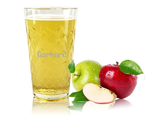Apfelweinglas mit Gravur - 0,5L Geripptes mit Namen gravieren - Geschenkidee Geburtstag Weihnachten