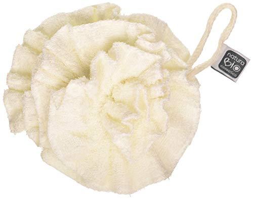 Naturabio Cosmetics Éponge Fleur Bambou Coton Naturel 100 g